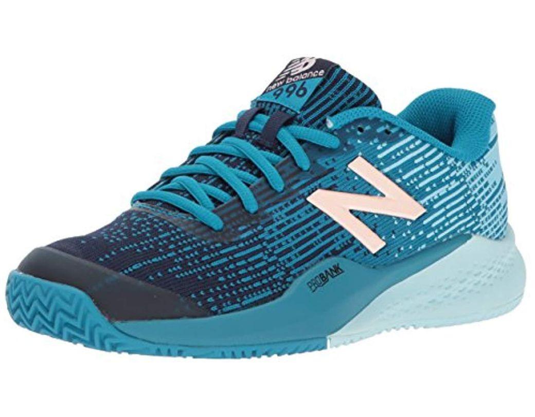 837465b2b0b5d Lyst - New Balance Clay Court 996 V3 Tennis Shoe in Blue - Save 62%