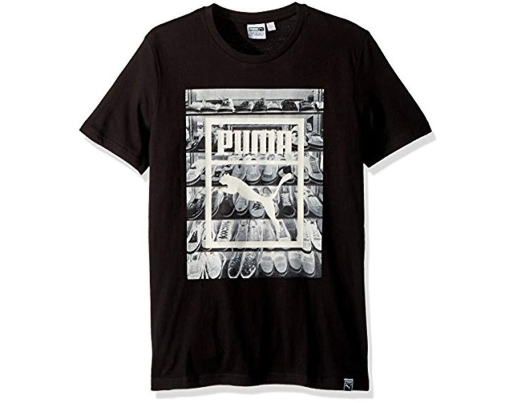 eb164feea9d2d Lyst - PUMA Photoprint Shoes T-shirt in Black for Men - Save 30%