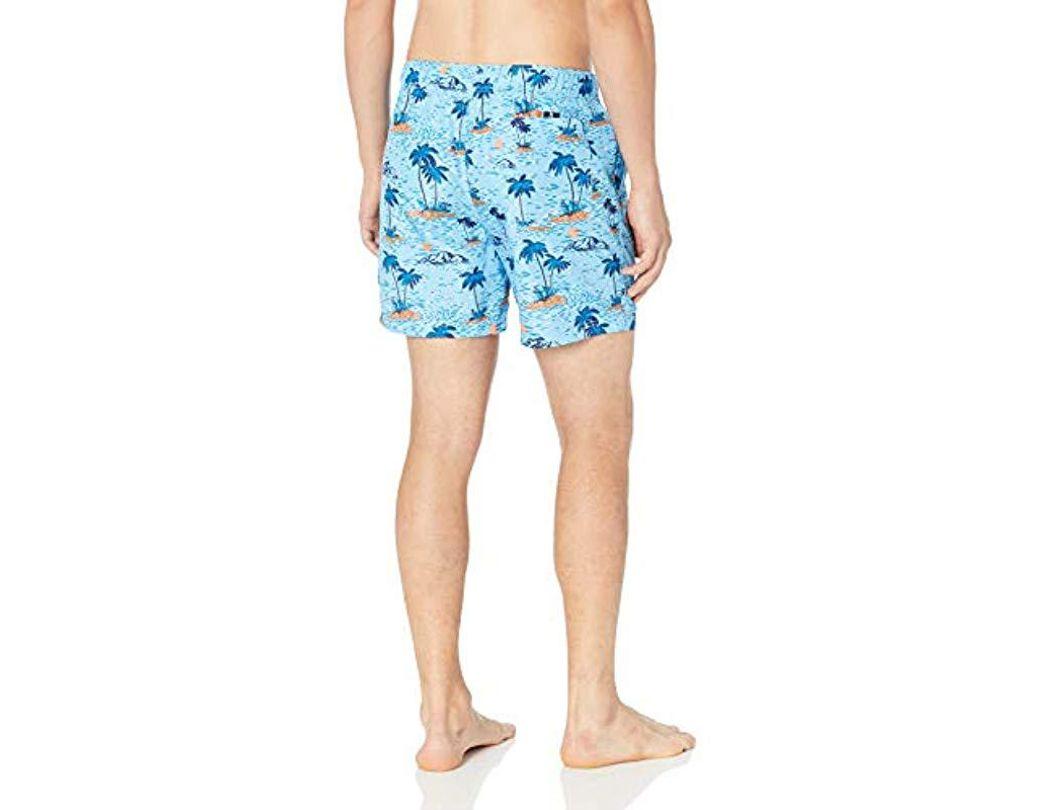 2f46d31324 Nautica Quick Dry Hawaiian Fish Swim Trunk in Blue for Men - Save 76% - Lyst
