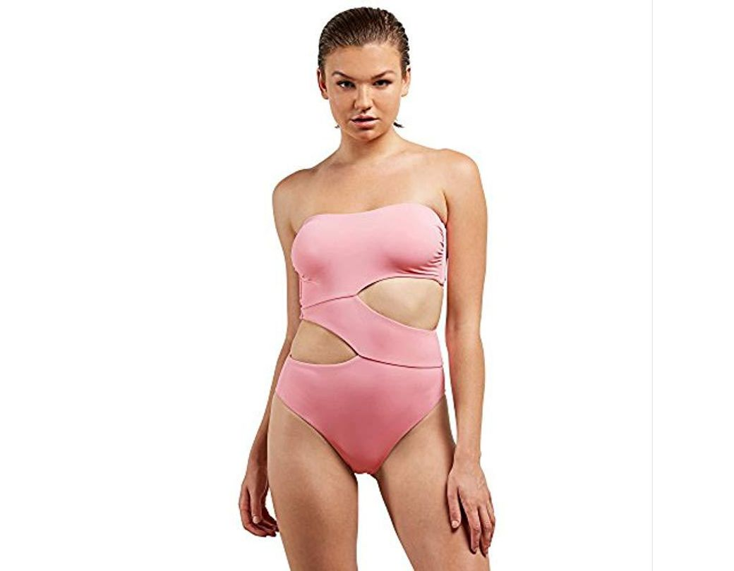 7417aed61c1 Lyst - Volcom Simply Seamless One Piece Swimsuit in Pink