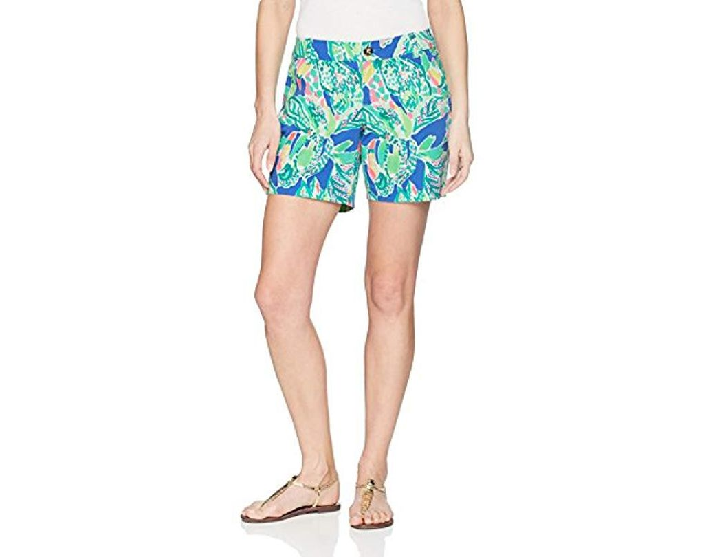 a5139a7e8cd306 Lyst - Lilly Pulitzer Jayne Stretch Short in Blue