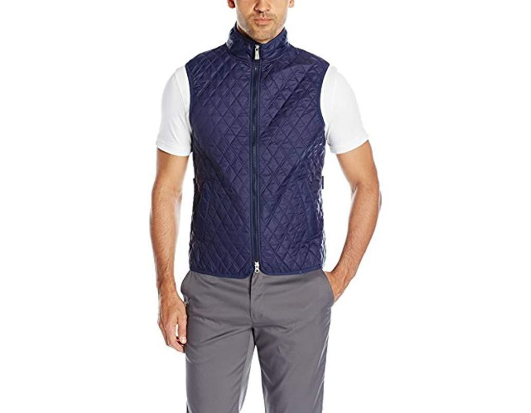 ee32df81 Lyst - J.Lindeberg Quilted Club Vest in Blue for Men