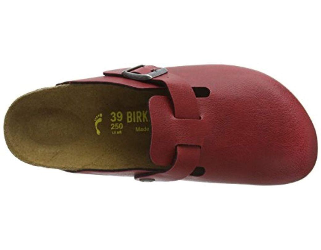 hot sale online 5edde b4f22 Birkenstock Boston Birko-flor Clogs in Red - Lyst