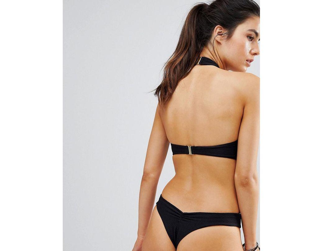 d4fca266076d4 Blue Life Vixen Lave Up Halter Bikini Top in Black - Lyst