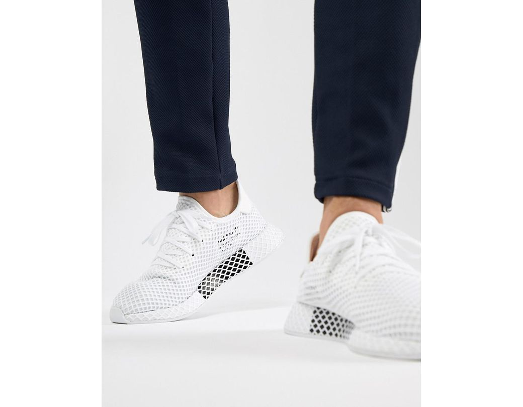 dcc0b2871845e Lyst - adidas Originals Deerupt Runner Sneakers In White Cq2625 in ...