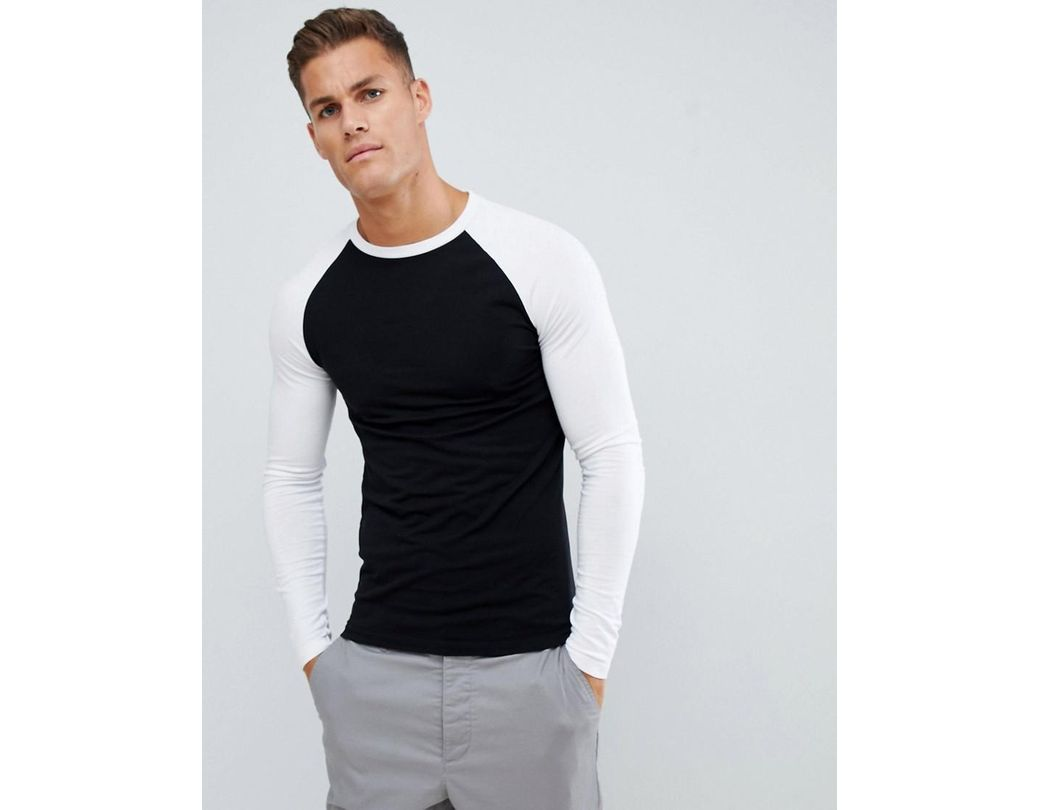 bca3c1fd ASOS Muscle Fit Long Sleeve Crew Neck T-shirt With Stretch With ...