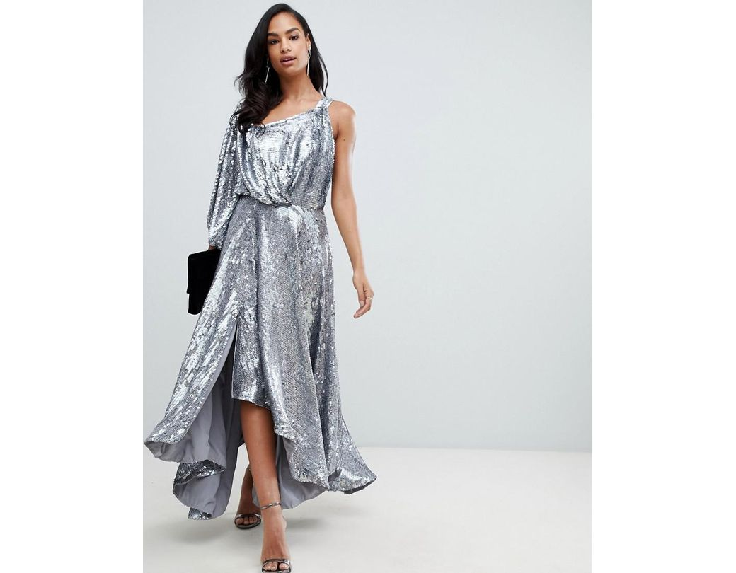 e675bd2857f Silver Holographic Sequin Bodycon Dress - Gomes Weine AG