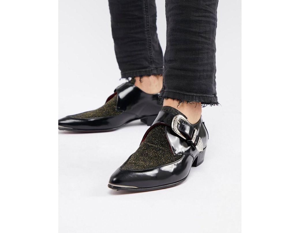 ac9d96a92b2f Lyst - Jeffery West Adamant Glitter Monk Shoes in Metallic for Men