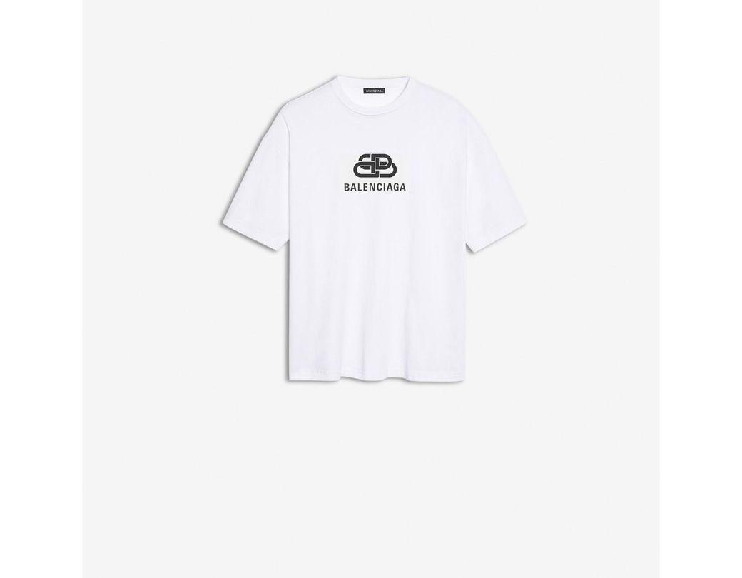 990577793235 Lyst - Balenciaga Bb Oversize T-shirt in White for Men