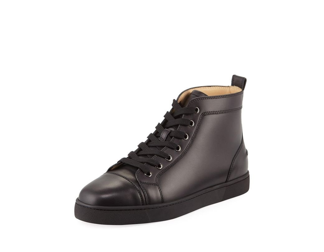 bad95f50cbbf Lyst - Christian Louboutin Men s Louis Leather High-top Sneakers in ...