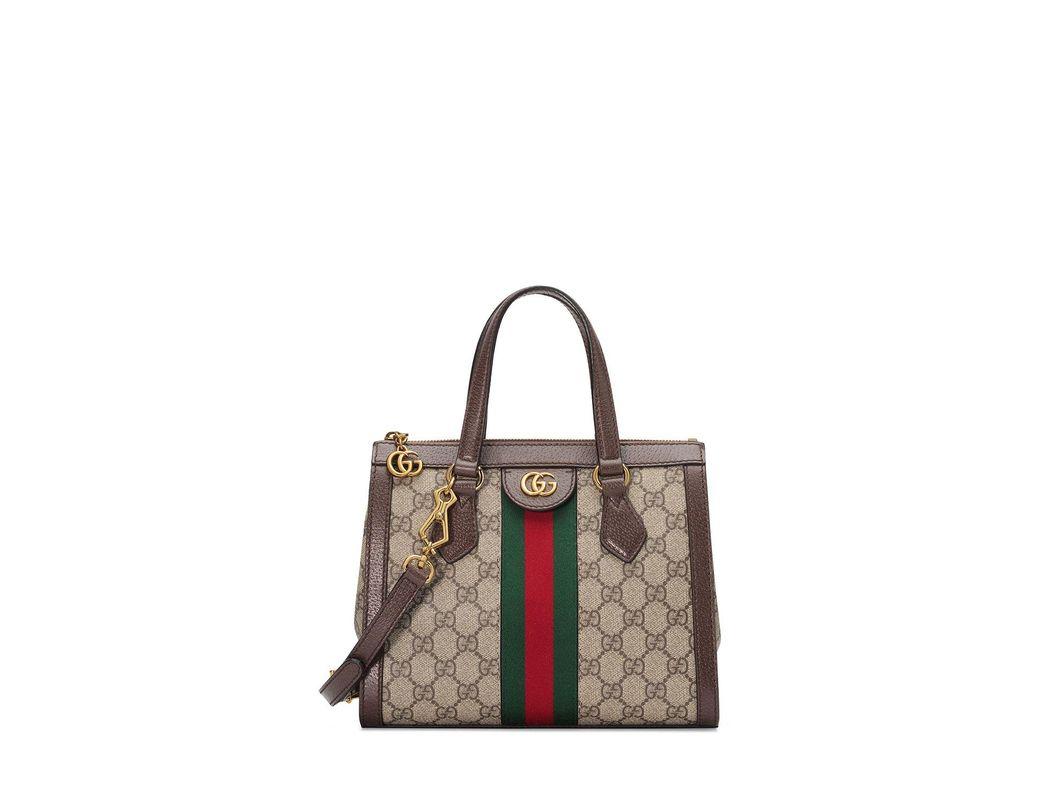 e25f616208ed Gucci Ophidia Medium GG Supreme Canvas Web Top-handle Tote Bag in ...
