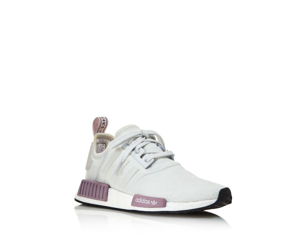 94c70a1ebad4f Lyst - adidas Women s Nmd R1 Knit Lace Up Sneakers in Gray