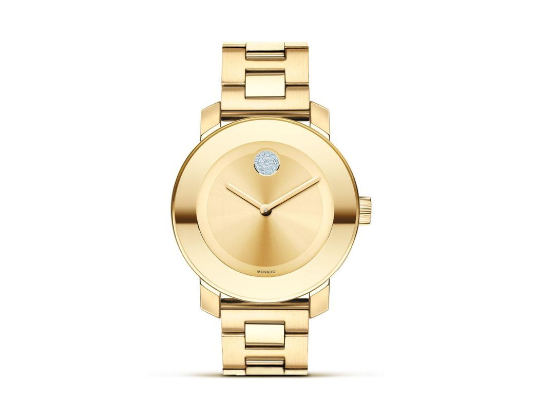 30fe193b296 Lyst - Movado Museum Dial Gold-Plated Watch in Metallic - Save 6%