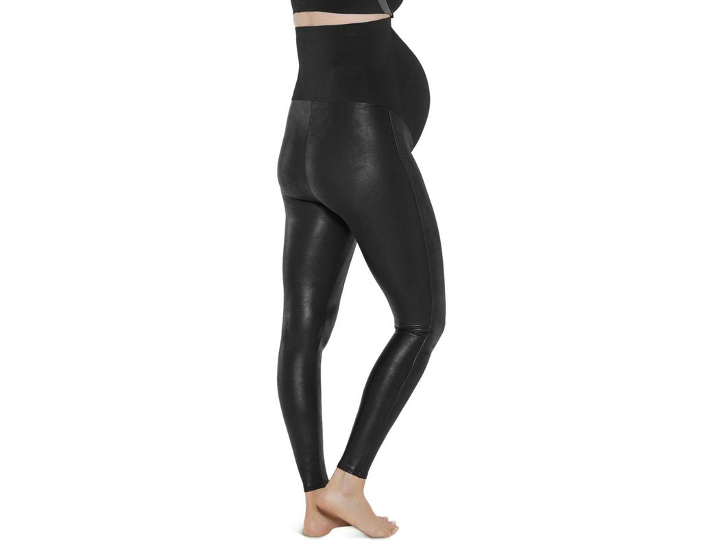 c7ecccf8a8e54 Spanx Mama Maternity Faux Leather Leggings in Black - Lyst