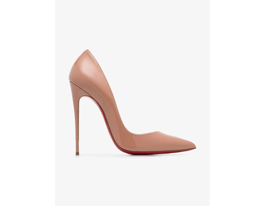 2735d9cca550 Christian Louboutin. Women s Natural Nude So Kate 120 Patent Leather Pumps