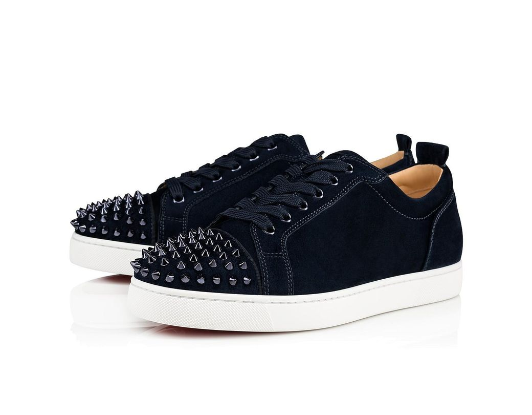 b0c723962eb5 Lyst - Christian Louboutin Louis Junior Spikes Flat in Blue for Men