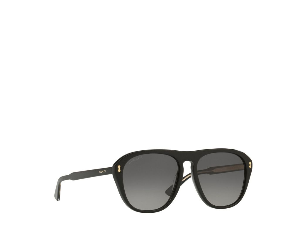72d29b56787 Long-Touch to Zoom. Long-Touch to Zoom. 1  2. Gucci - Black Gg0128s Square  Sunglasses for Men - Lyst ...