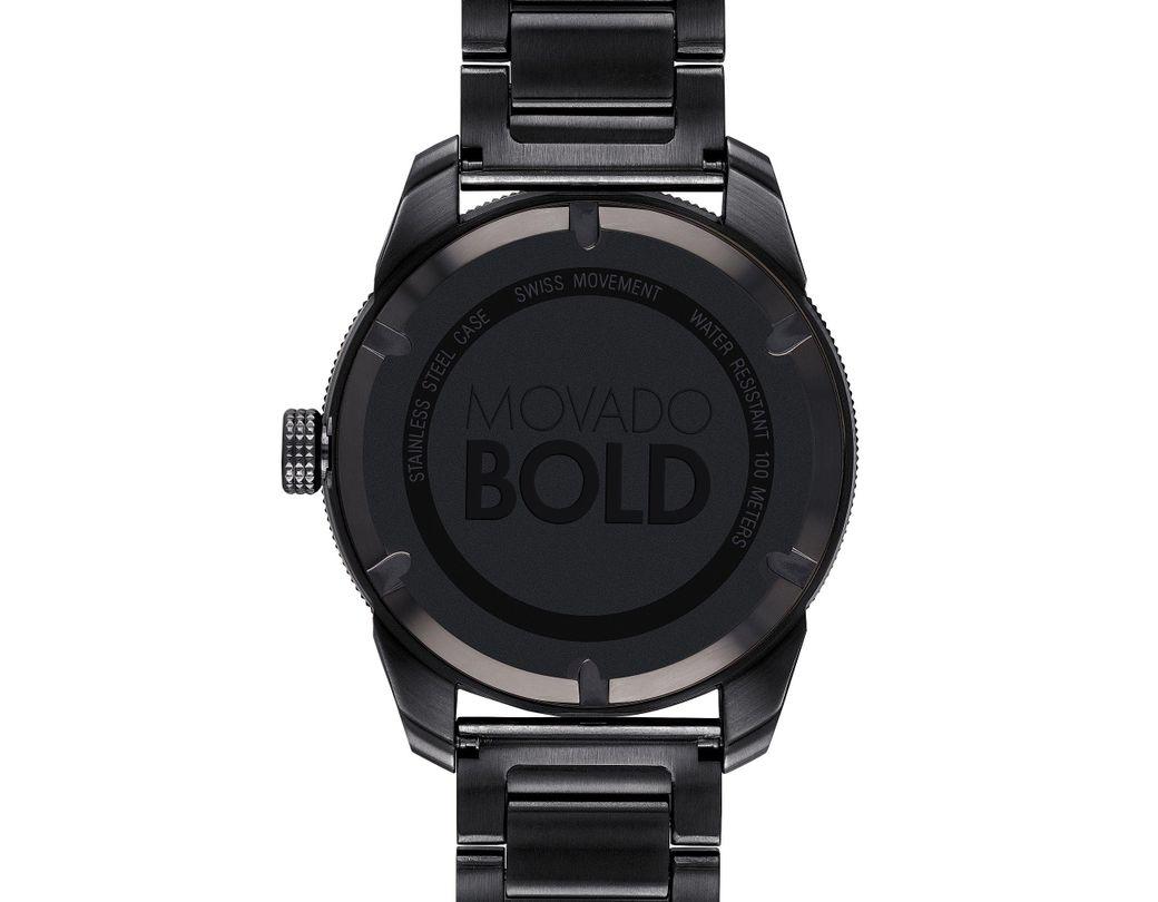 7f2c8390b Lyst - Movado Bold Men's Sport Black Watch in Black for Men
