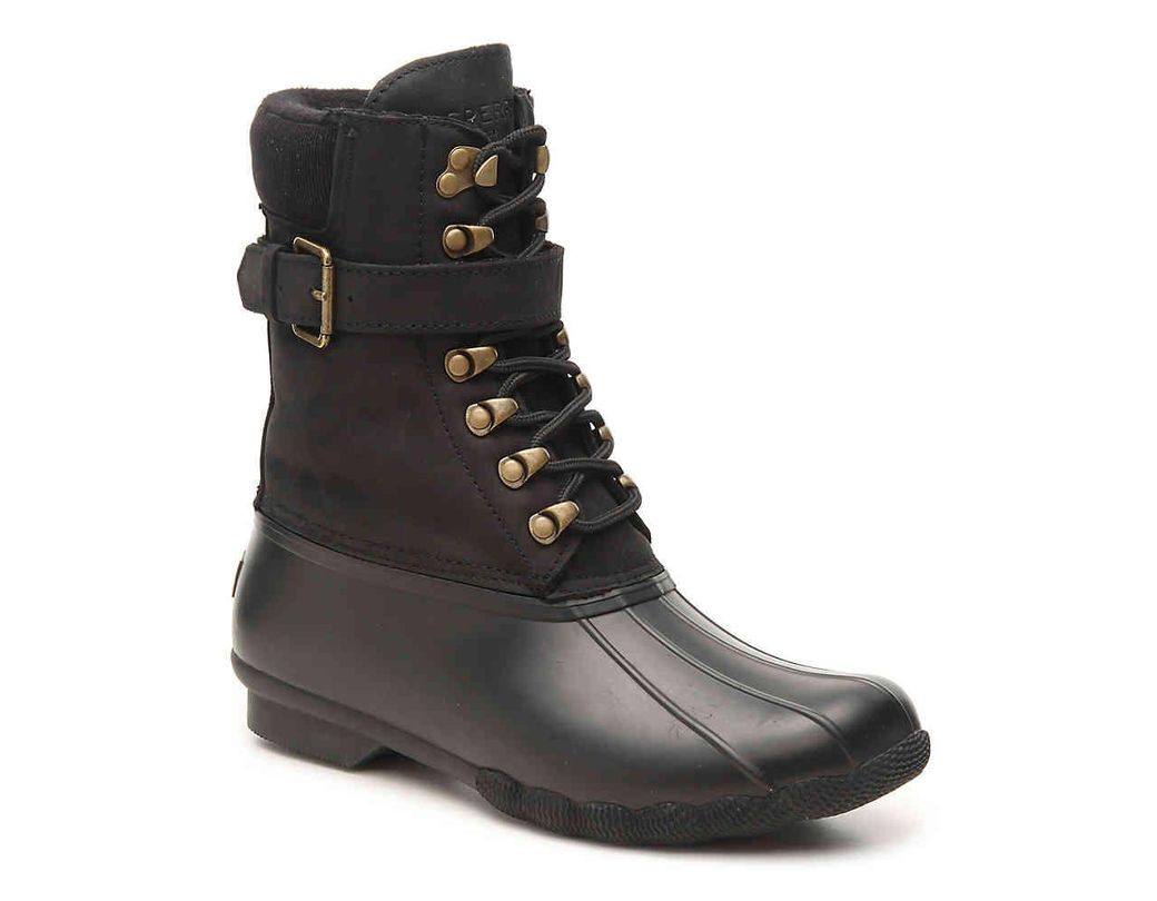 03ceb0b12465 Lyst - Sperry Top-Sider Shearwater Duck Boot in Black