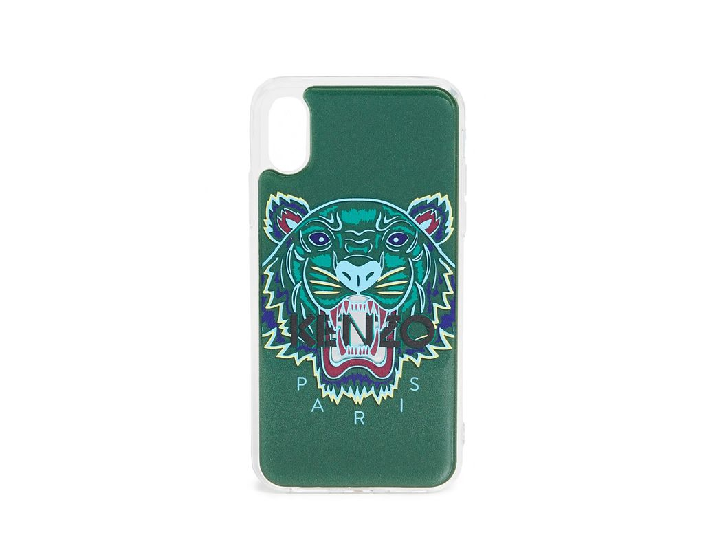 8dd3d449 KENZO 3d Tiger Head Iphone X / Xs Case in Green for Men - Lyst