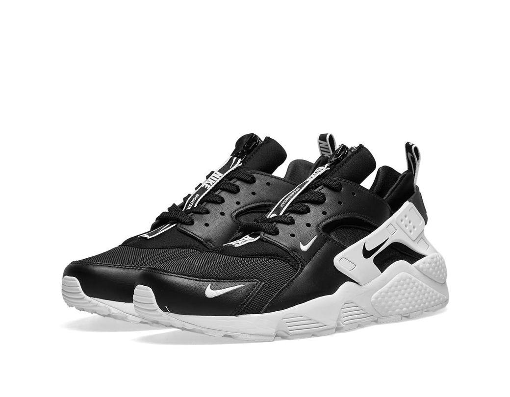 7c6a9663256e8 Nike Air Huarache Run Premium Zip in Black for Men - Lyst