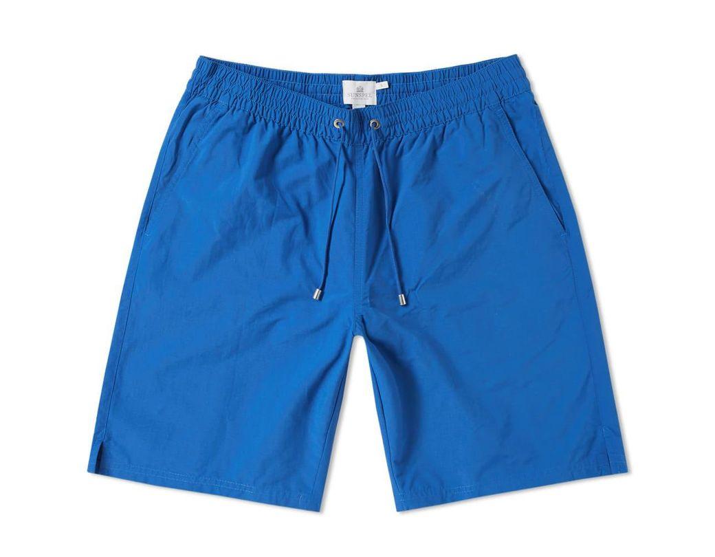 f45e502cee Lyst - Sunspel Drawstring Swim Short in Blue for Men