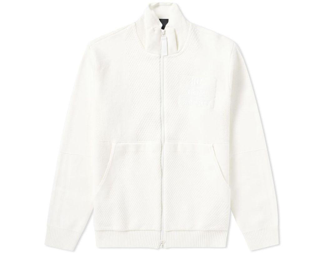 a31dd7fa1 adidas X Pharrell Williams Hu Knit Track Top  blank Canvas  in White ...