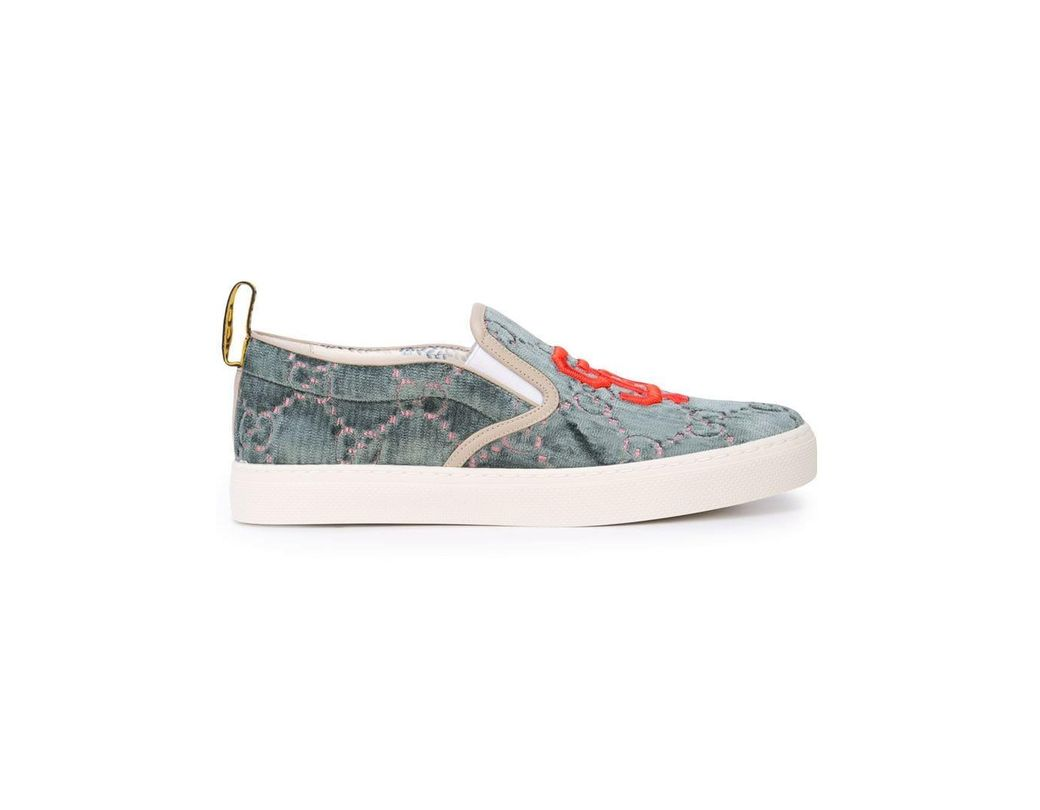 03843c5ce43 Lyst - Gucci Sf Giants GG Supreme Slip On Sneakers in Green for Men