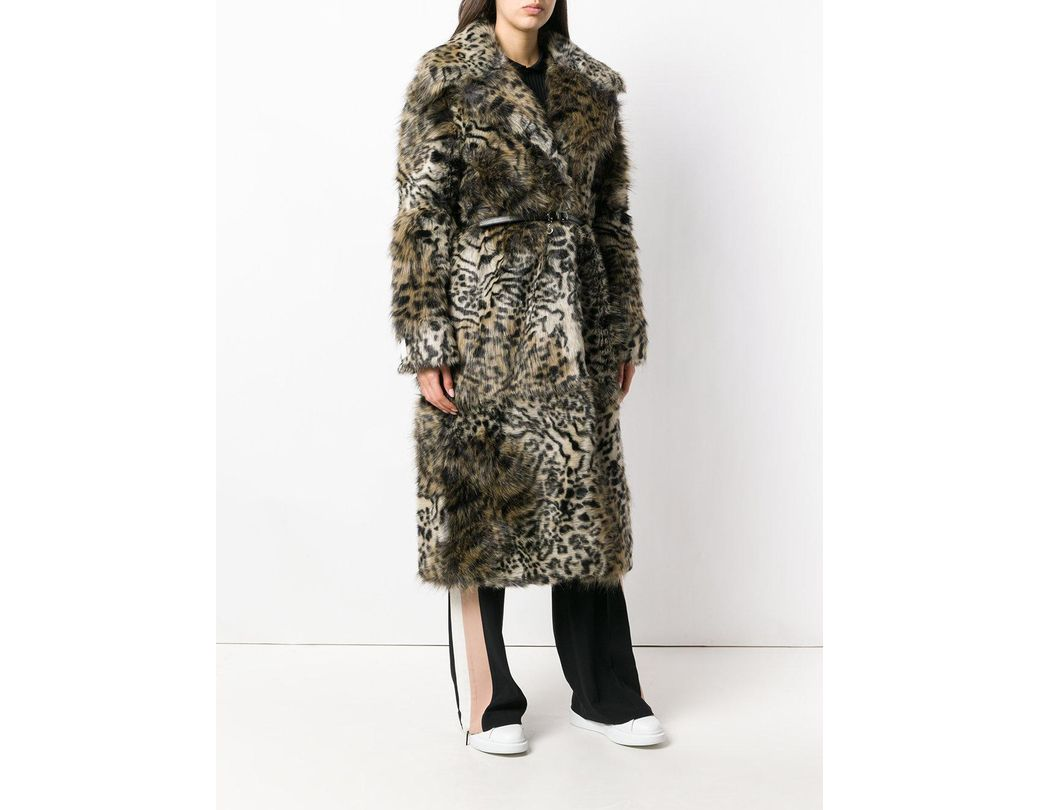 0ecf26a82f5a4 Stella McCartney Leopard Print Faux-fur Coat in Brown - Lyst