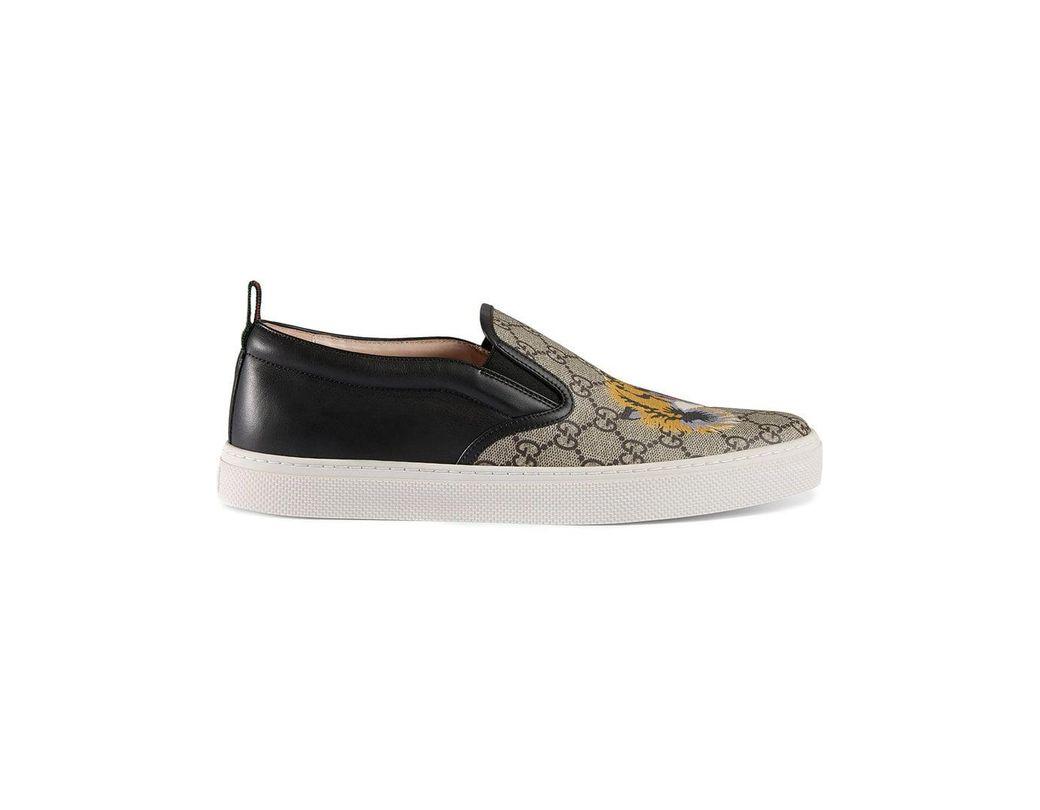 947faf61573 Lyst - Gucci GG Supreme Tiger Slip-on Sneaker for Men - Save 31%