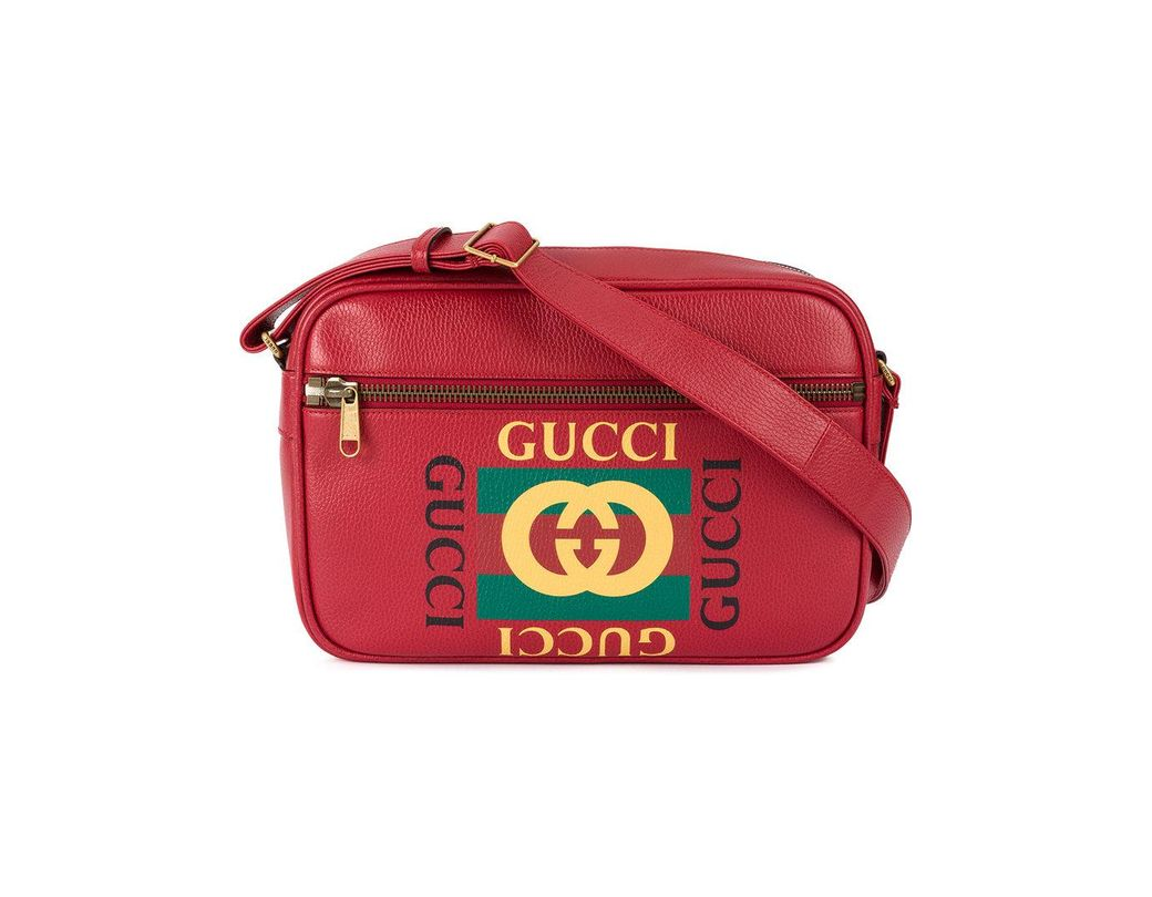 2c2329234dd Gucci Printed Messenger Bag in Red for Men - Save 2% - Lyst