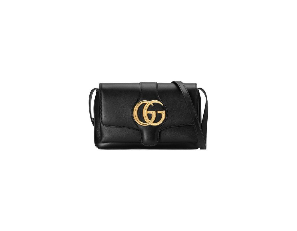 9c992ac67cf Lyst - Gucci Small Arli Smooth Leather Shoulder Bag in Black - Save 14%