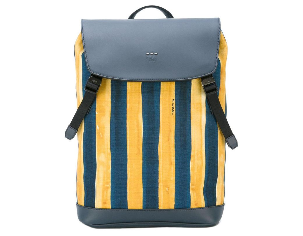 f878feab2a73 Lyst - Fendi Watercolour Striped Backpack in Blue for Men