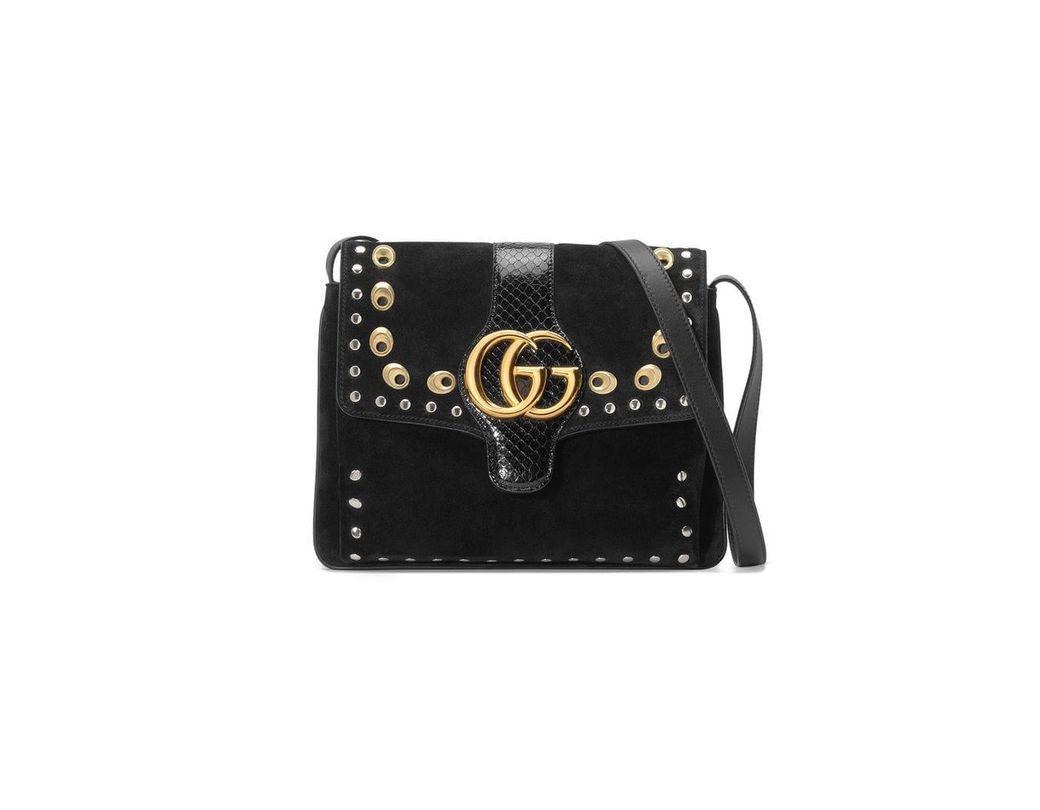 5c0e30206df Lyst - Gucci Arli Medium Shoulder Bag in Black