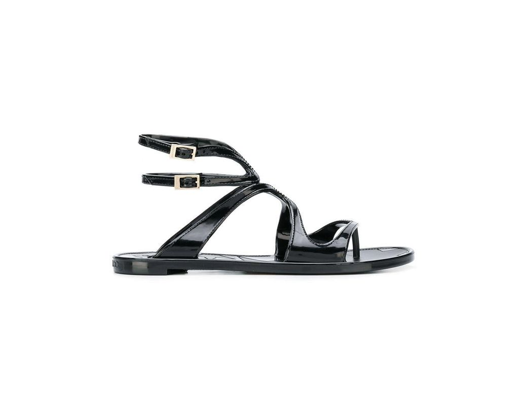 d82e66bfb0fc Lyst - Jimmy Choo Lance Jelly Sandals in Black - Save 43%