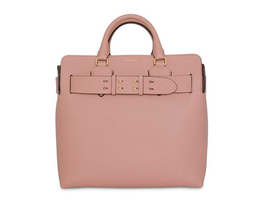 a413bbe0b75e Lyst - Burberry The Medium Leather Belt Bag in Pink