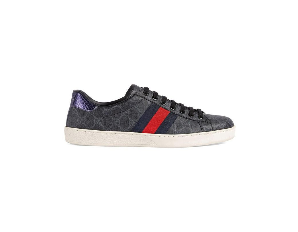 d8a77603c30 Lyst - Gucci Ace GG Supreme Sneaker in Black for Men
