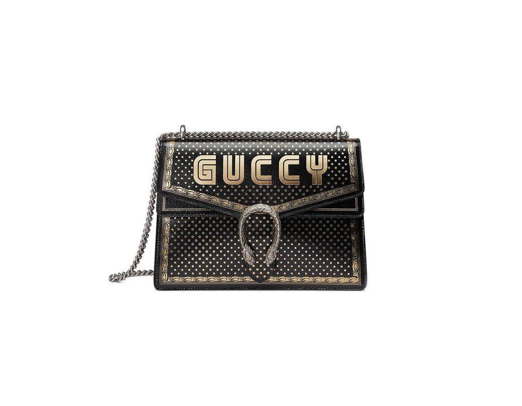 78872b86584 Lyst - Gucci Borsa Dionysus Sega® Print Shoulder Bag in Black - Save 11%