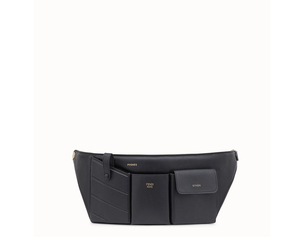 2cda887fc93 Lyst - Fendi Pockets Belt Bag in Black
