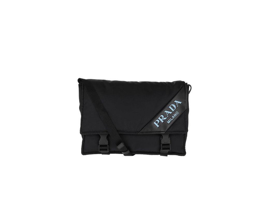 64c92f76d48d Prada Logo Crossbody Bag Nylon Black in Black - Lyst