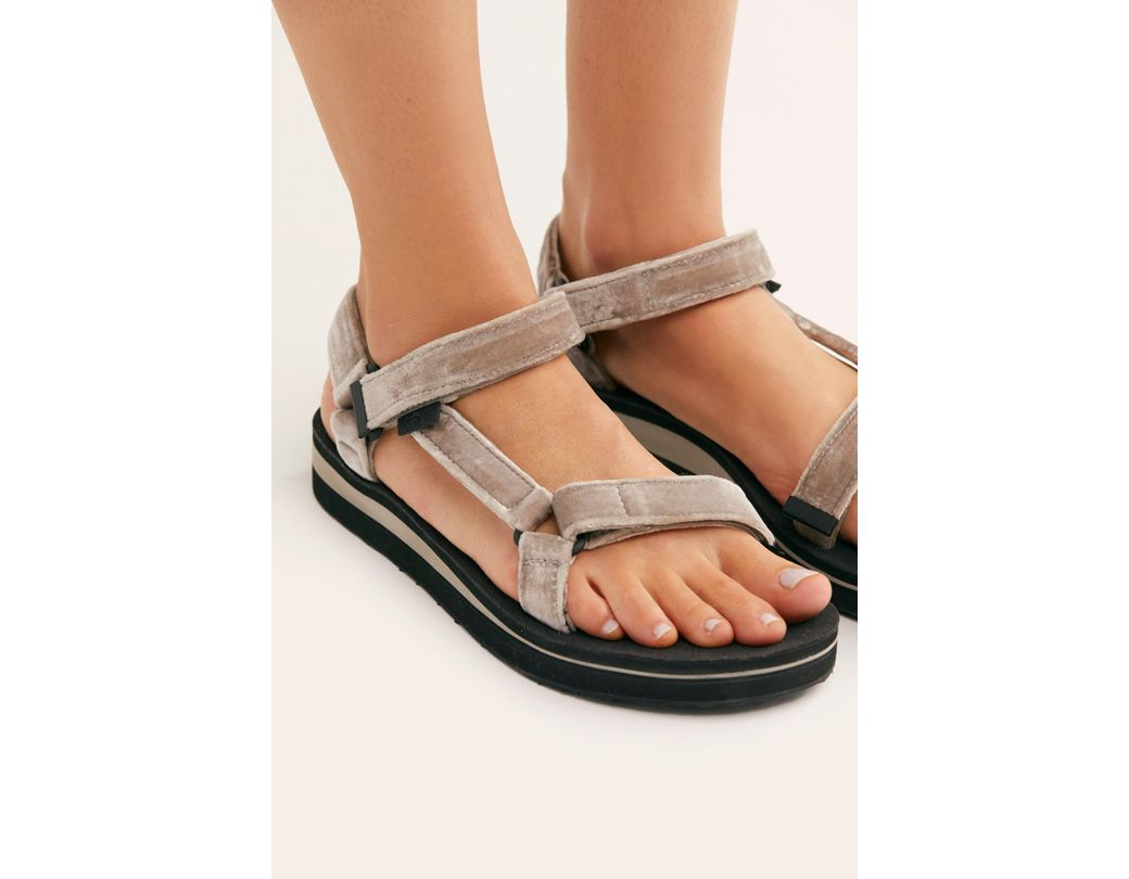 58027313ac21 Free People Midform Universal Holiday Sandal By Teva in Metallic - Lyst