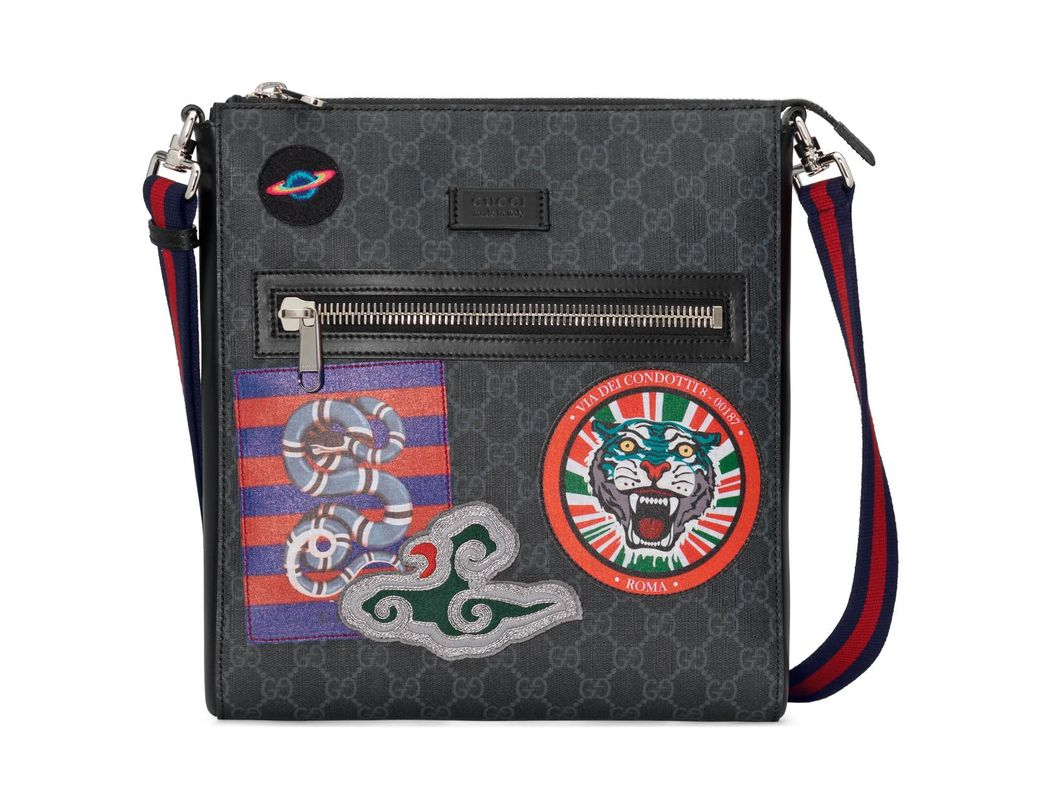 ef7a0ce704b Lyst - Gucci Night Courrier GG Supreme Messenger for Men - Save 19%