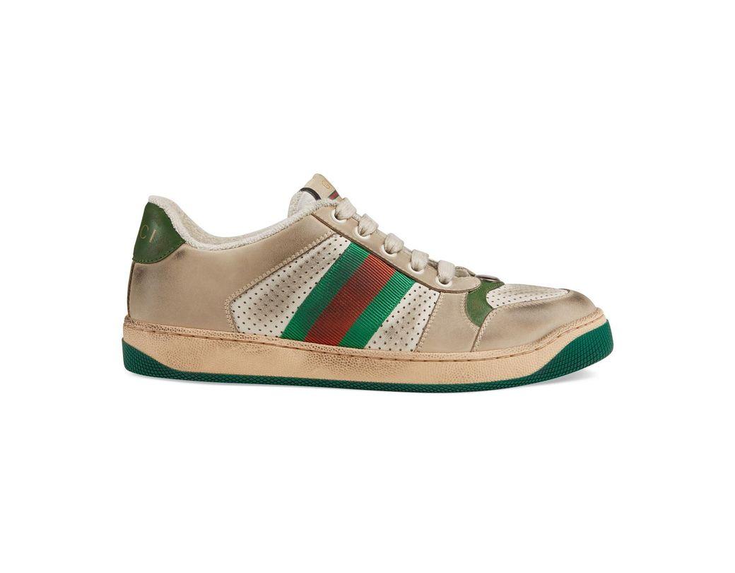 77ab2de668c Lyst - Gucci Screener Leather Sneaker - Save 6%