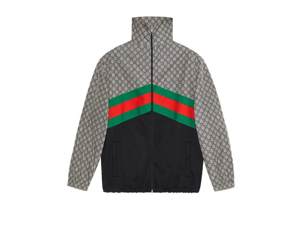 3d20dc1f510 Lyst - Gucci Oversize Technical Jersey Jacket in Green for Men