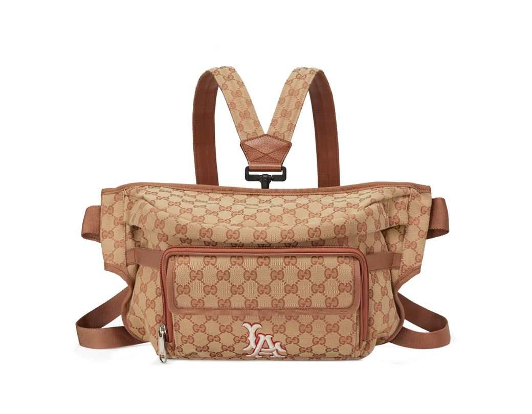 0a34c030ecf Gucci Belt Bag With La Angelstm Patch in Brown for Men - Lyst