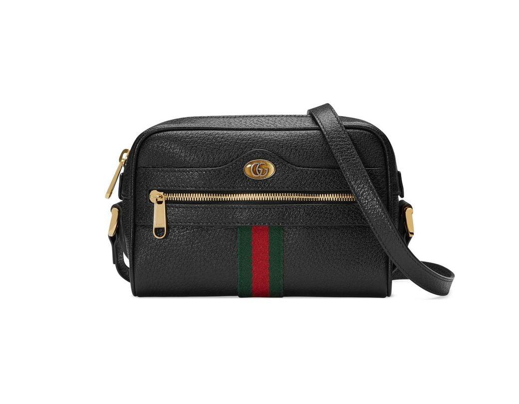 5d54732880f Lyst - Gucci Ophidia Mini Bag in Black