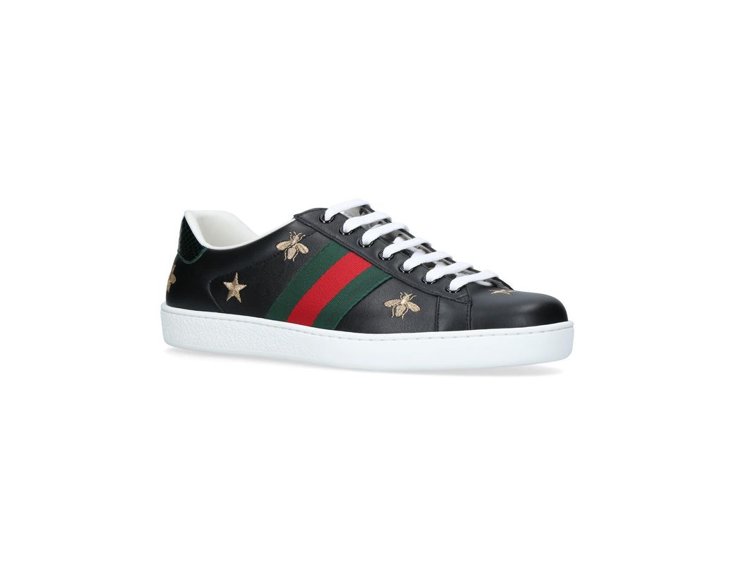 11e0a728eaa Lyst - Gucci New Ace Embroidered Sneakers in Black for Men - Save 22%