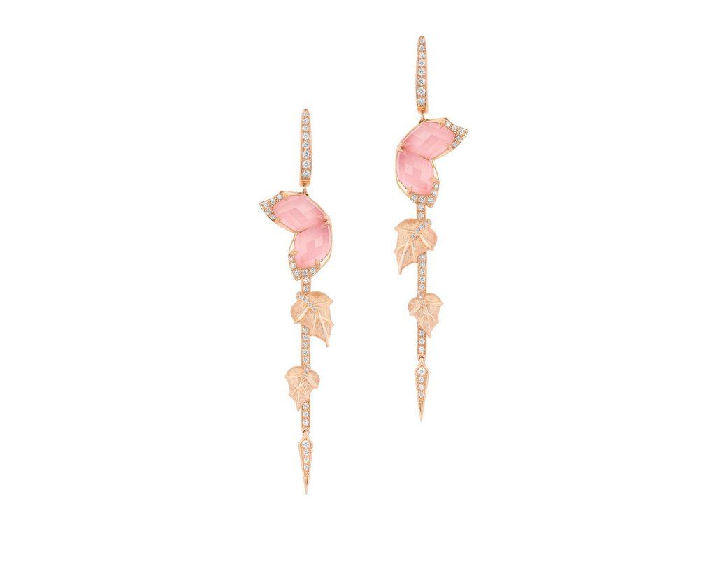 36a6b981550 Stephen Webster Loves Me Not Crystal Haze Long Earrings in Pink - Lyst