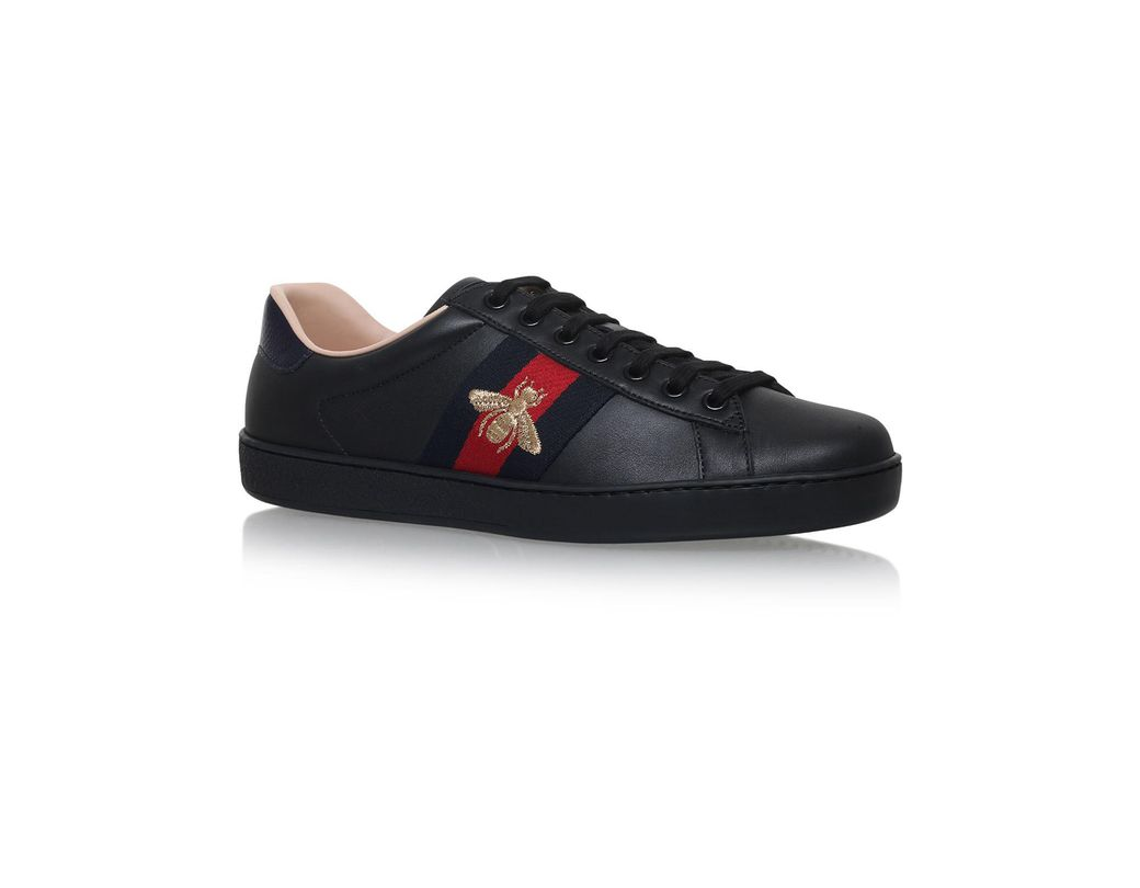 1808c23d1a9 Lyst - Gucci New Ace Black Leather Trainers in Black for Men - Save 15%