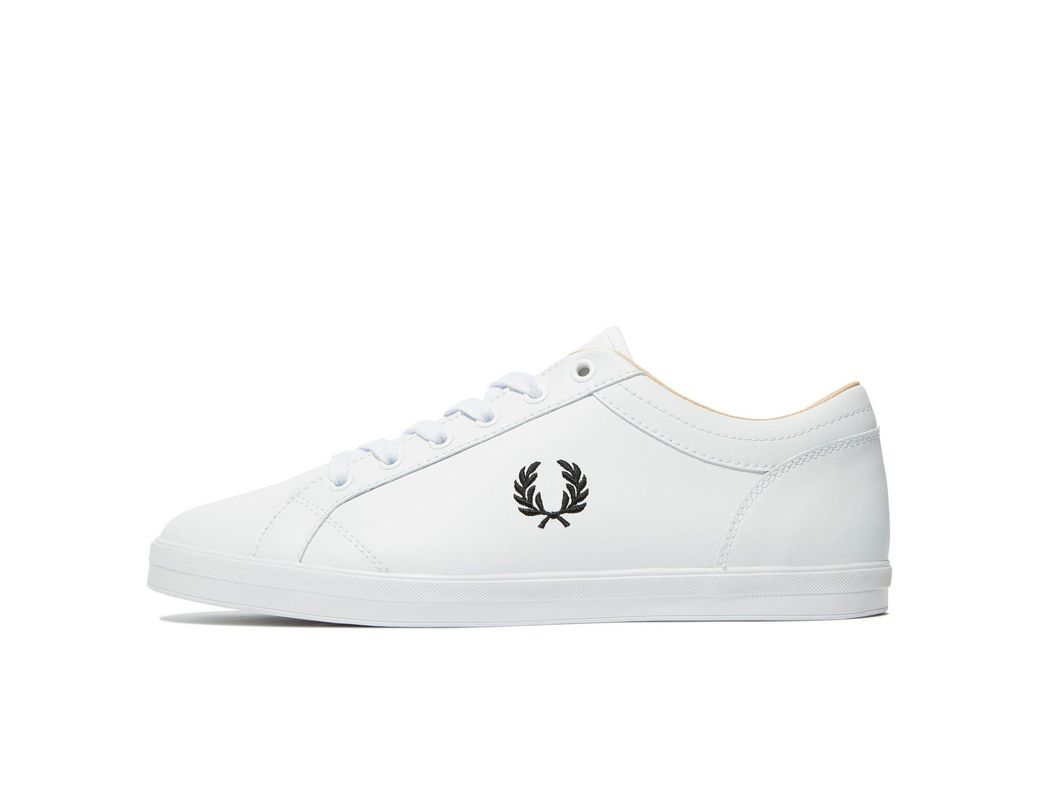 4e23e3adf7ed5 Lyst - Fred Perry Baseline Leather Sneaker in White for Men - Save 25%